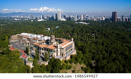Chapultepec castle view from above. Mexico city. Foto stock ©