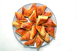 Char Siew Sou Barbecue Pork Savoury . TRIANGLE PAXLAVA . Azerbaijani cuisine is distinguished by its diversity. Triangular baklava cooked mainly in Gabala region