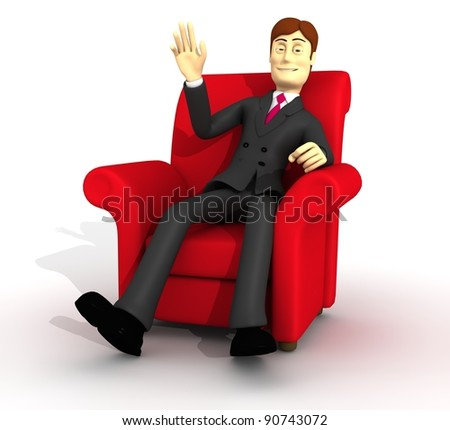 character on armchair