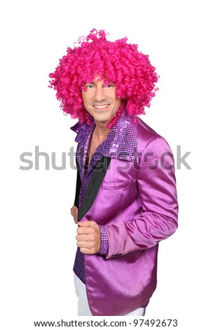 Character with pink wig
