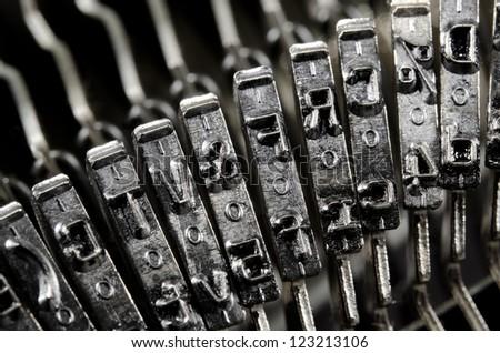 characters of old typewriter (macro)