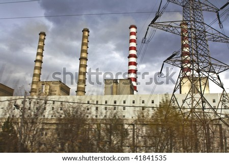 Charcoal electric power plant