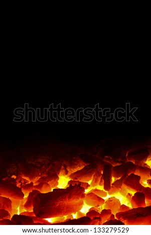 Charcoal fire black background #133279529
