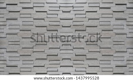 Charcoal gray color brick wall texture. #1437995528