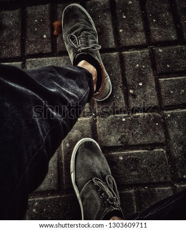 Charcoal Grey Shoes Portrait #1303609711