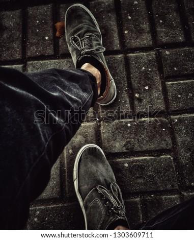 Charcoal Grey Shoes Portrait #1303609711