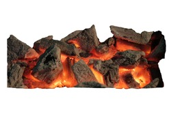 Charcoal with for on, charcoal fire, charcoal fire with white background, charcoal fire isolate,