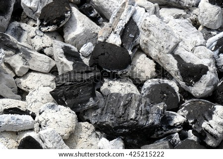Charcoal with white ash #425215222