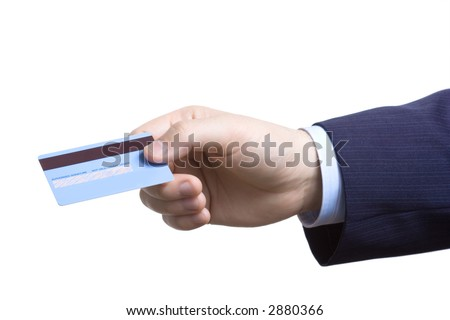 Charge it on my credit card - stock photo