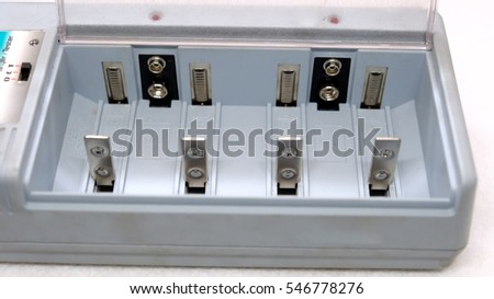 Charger for different battery types Foto stock ©