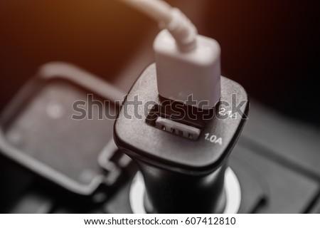 Charger plug phone on car #607412810