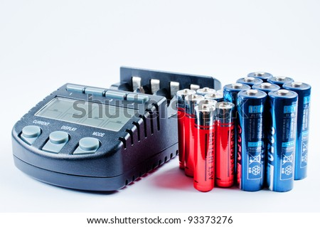 Charger with batterys