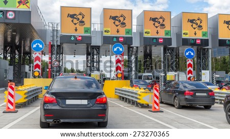 charging point on the toll road