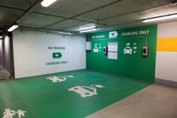 Charging station for electric vehicles in underground parking