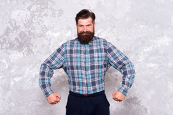 Charisma concept. Taking care of facial hair. Hair care. Best beard design shape facial hair. Bearded hipster brutal guy. Nice beard distinguishable style that exuberant professionalism and manhood.