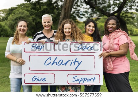 Charity Donate Giving Help Support Volunteer Concept