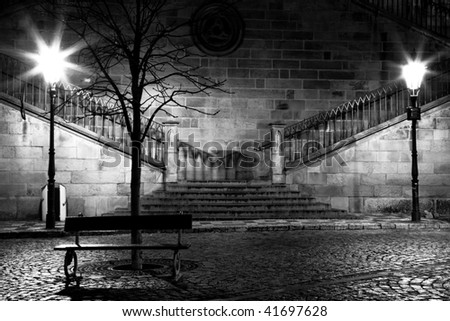 Charles bridge from the side of Mala Strana, Prague - stock photo