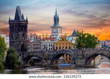 Charles Bridge in Prague Stock photo ©