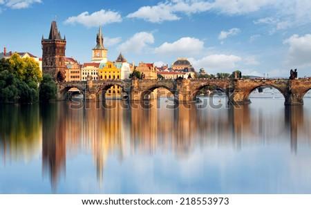 Charles bridge in Prague, Czech republic Stock photo ©