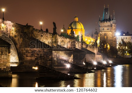 Charles Bridge (Karluv Most) is Prague�¢??s most familiar monument, connects the Old Town (Stare Mesto) with the Little Quarter (Mala Strana). Although it is now pedestrianized.