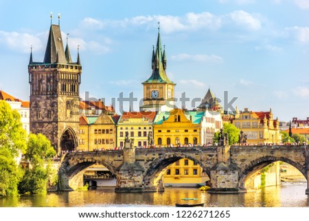 Charles Bridge, Old Town Bridge Tower and the Old Town Hall, Prague #1226271265