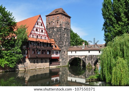 Charles bridge view,Nuremberg,Germany