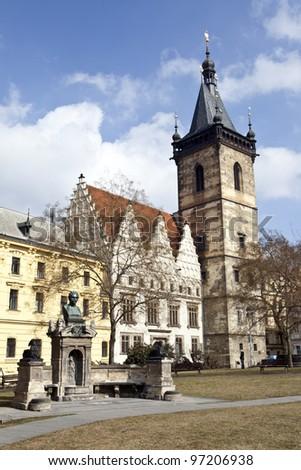 Charles square, karlovo namesti, in prague, czech republic