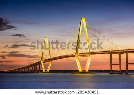 Charleston, South Carolina, USA at Arthur Ravenel Jr. Bridge. #285430451