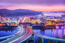 Charleston, West Virginia, USA skyline at dawn.