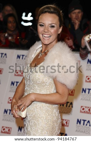 Charlie Brooks arriving for the National Television Awards, O2, London. 25/01/2012 Picture by: Steve Vas / Featureflash