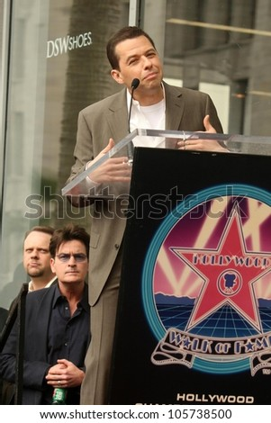 Charlie Sheen and Jon Cryer at the Ceremony Honoring Chuck Lorre with the 2,380th Star on the Hollywood Walk of Fame. Hollywood Boulevard, Hollywood, CA. 03-12-09