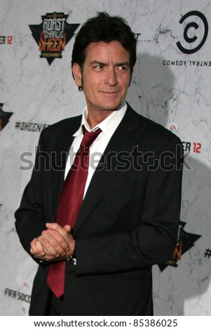 Charlie Sheen at Comedy Central's Roast Of Charlie Sheen, Sony Studios, Culver City, CA. 09-10-11