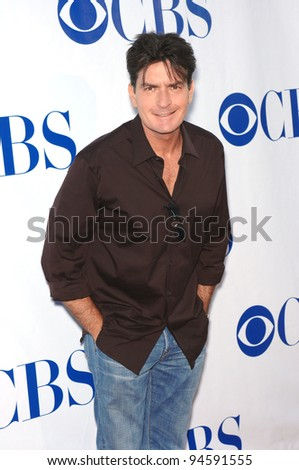 "Charlie Sheen at the CBS Summer Press Tour ""Stars Party 2007"" on the Wadsworth Theatre Great Lawn. July 20, 2007  Los Angeles, CA Picture: Paul Smith / Featureflash"