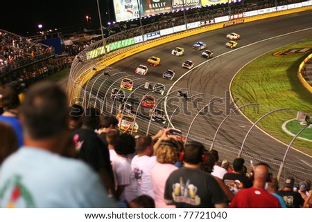 CHARLOTTE, NC - May 21, 2011: Charlotte Motor Speedway. NASCAR Sprint All-Star race, won by Carl Edwards on May 21, 2011in Charlotte, North Carolina.
