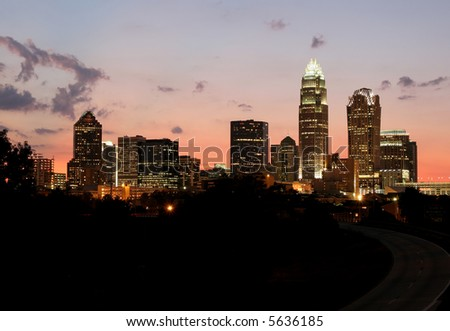Charlotte, NC Skyline at Dusk