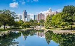 Charlotte, NC Skyline from Marshall Park