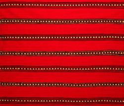 Charlotte, NC, USA - Nov 9, 2019: Fragment of Romanian folk seamless pattern. Romanian traditional embroidery. Ethnic texture design. Traditional carpet design. Rustic carpet design.