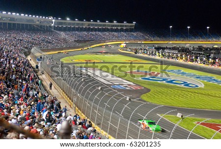 CHARLOTTE, NC, USA - OCTOBER 16: The Bank of America 500 Nascar race was won by McMurray on October 16, 2010 in Charlotte, NC, USA