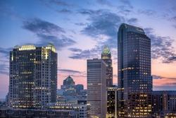Charlotte North Carolina Skyline at Sunrise