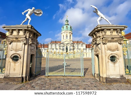 Charlottenburg Palace as seen from entrance gate, Berlin, Germany