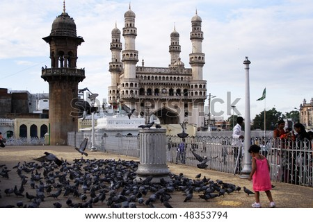 Charmianr, Famous monument in Hyderabad,India