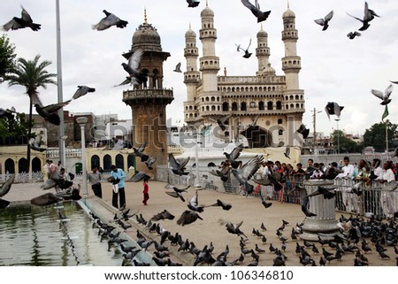 Charminar,Famous monument ,Hyderabad,India