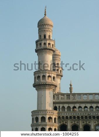 charminar, hyderabad's principal landmark, built in 1591