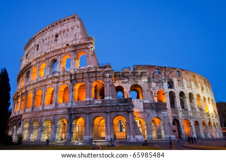 charming collosseum at twilight