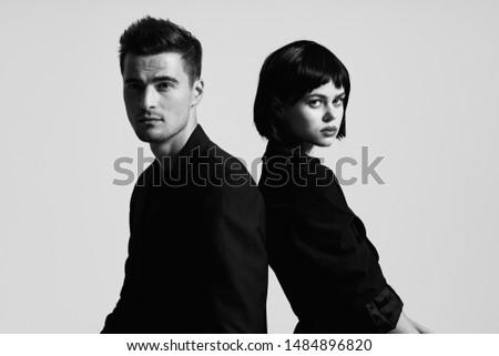 Charming couple relationship studio charm fashion