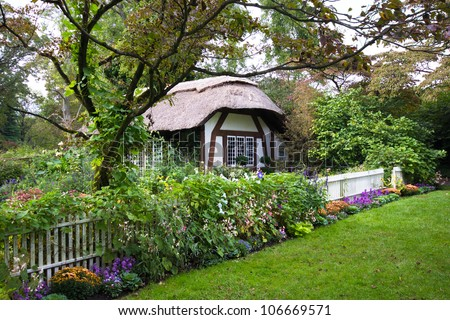 Charming English style cottage in the garden