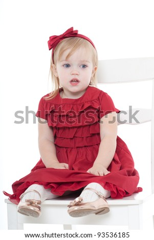 charming little girl an elegant dress