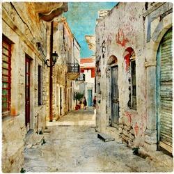 charming old greek streets, Naxos island