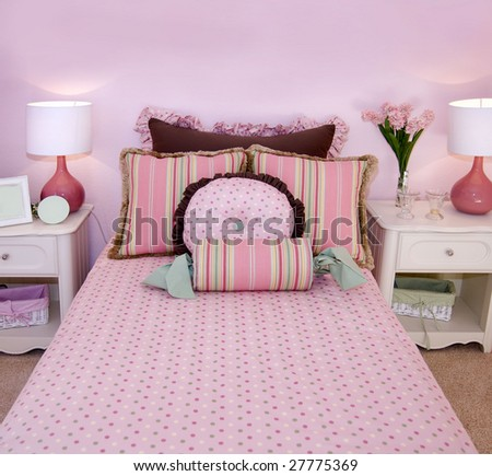 Charming pink children's room