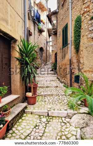 Charming village, with narrow streets, between quaint houses